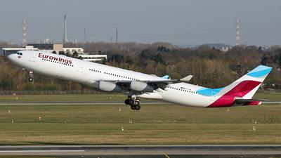 OO-SCW - Airbus A340-313 - Eurowings (Brussels Airlines)