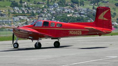 A picture of N3682B - Beech B50 Twin Bonanza - [CH103] - © Mirko Bleuer