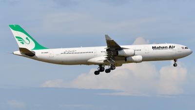 A picture of EPMMD - Airbus A340313 - Mahan Air - © Chengye Li