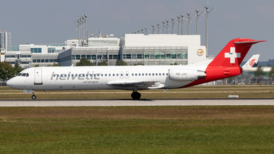 HB-JVC - Fokker 100 - Helvetic Airways