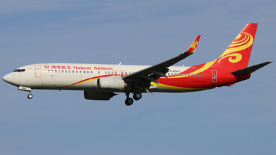 A picture of B6062 - Boeing 73784P - Hainan Airlines - © love pek Zong chao LI