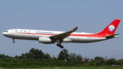 A picture of B8690 - Airbus A330343 - Sichuan Airlines - © HM Liu