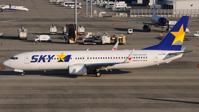 A picture of JA73NL - Boeing 7378HX - Skymark Airlines - © Kinmei