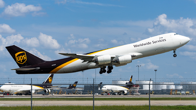 A picture of N613UP - Boeing 7478F - UPS - © Haocheng Fang