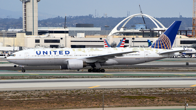 A picture of N791UA - Boeing 777222(ER) - United Airlines - © Rocky Wang