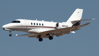 A picture of N593QS - Cessna 680A Citation Latitude - NetJets - © PAUL LINK