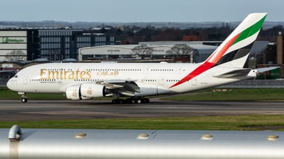 A picture of A6EVG - Airbus A380842 - Emirates - © Leo Sheng