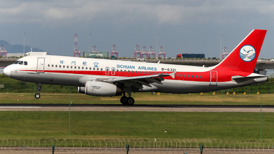 A picture of B6321 - Airbus A320232 - Sichuan Airlines - © Snake_ZSAM