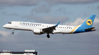 A picture of UREMB - Embraer E190STD - Ukraine Int. Airlines - © Peter Baldwin