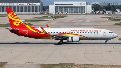 A picture of B5638 - Boeing 73784P - Hainan Airlines - © Sweet Potato