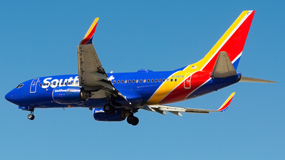 A picture of N748SW - Boeing 7377H4 - Southwest Airlines - © M.R. Aviation Ph