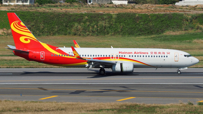 A picture of B5853 - Boeing 73784P - Hainan Airlines - © Rex Tsai