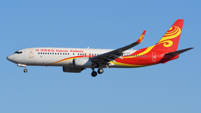 A picture of B1375 - Boeing 73784P - Hainan Airlines - © sunshy0621