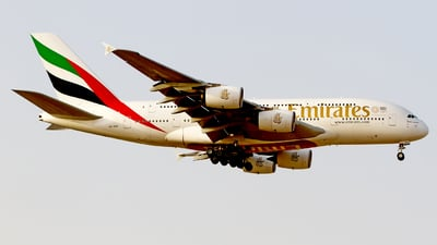 A picture of A6EUX - Airbus A380842 - Emirates - © M. Azizul Islam