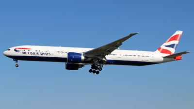 A picture of GSTBP - Boeing 777300(ER) - British Airways - © n94504