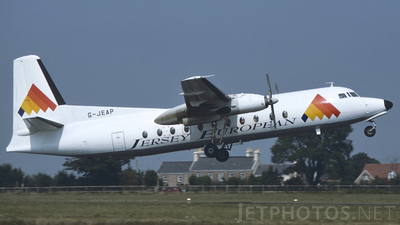 G-JEAP - Fokker F27-500 Friendship - Jersey European Airways