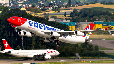 A picture of HBJMD - Airbus A340313 - Edelweiss Air - © Severin Hackenberger