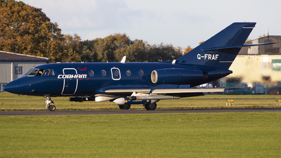 A picture of GFRAF - Dassault Falcon 20 - Cobham Aviation Services - © Darryl Morrell - AirTeamImages