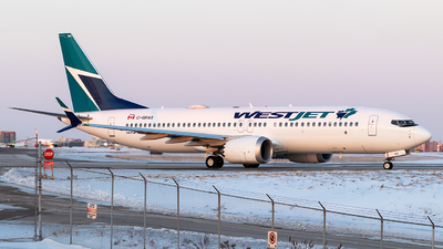 A picture of CGRAX - Boeing 737 MAX 8 - WestJet - © Xinyu Wu