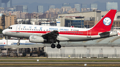 A picture of B6448 - Airbus A319133 - Sichuan Airlines - © XieTM