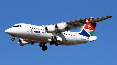 ZS-ASW - British Aerospace Avro RJ85 - South African Airlink