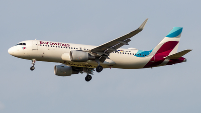 A picture of DAEWV - Airbus A320214 - Eurowings - © Debregabor