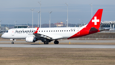 A picture of HBJVO - Embraer E190LR - Helvetic Airways - © Thomas Ernst