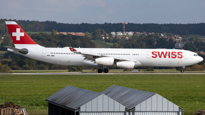 A picture of HBJMB - Airbus A340313 - Swiss - © Luis Singer