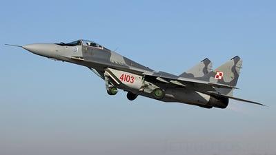 4103 - Mikoyan-Gurevich MiG-29 Fulcrum - Poland - Air Force