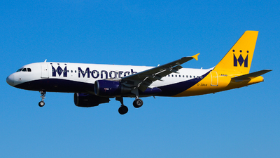 G-ZBAR - Airbus A320-214 - Monarch Airlines