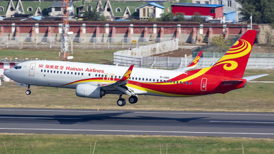 A picture of B1386 - Boeing 73784P - Hainan Airlines - © Eric Wang