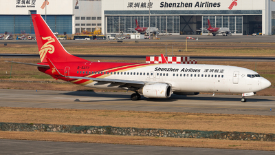 A picture of B5377 - Boeing 7378AL - Shenzhen Airlines - © ZGGG RWY01