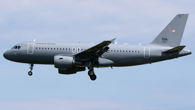 604 - Airbus A319-112 - Hungary - Air Force
