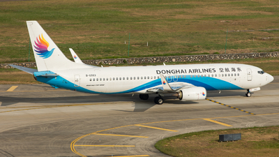 A picture of B6983 - Boeing 73783Z - Donghai Airlines - © Edward Fan