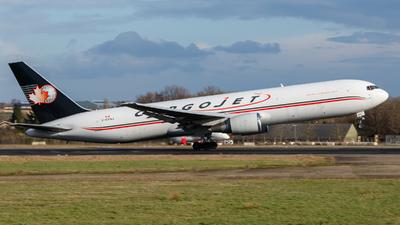 A picture of CGYAJ - Boeing 76735E(ER)(BCF) - Cargojet Airways - © Kelvin Jahae