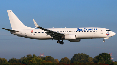 A picture of TCSPF - Boeing 7378K5 - SunExpress - © Andreas Fietz
