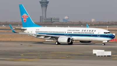 A picture of B5721 - Boeing 73781B - China Southern Airlines - © jehrenstoneman