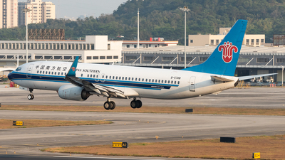 A picture of B5748 - Boeing 73781B - China Southern Airlines - © xuhaoqing995
