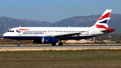 A picture of GEUUW - Airbus A320232 - British Airways - © Javier Rodriguez - Amics de Son Sant Joan