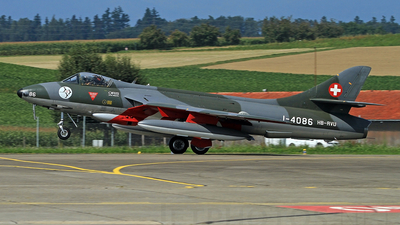 HB-RVU - Hawker Hunter Mk.58 - Switzerland - Air Force