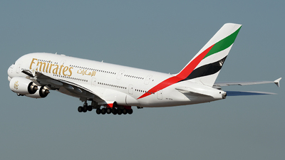 A picture of A6EEB - Airbus A380861 - Emirates - © ECHO