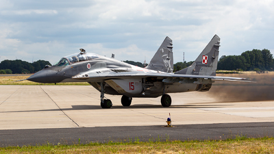 15 - Mikoyan-Gurevich MiG-29UB Fulcrum B - Poland - Air Force