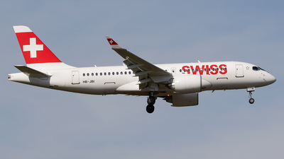 HB-JBI - Bombardier CSeries CS100  - Swiss