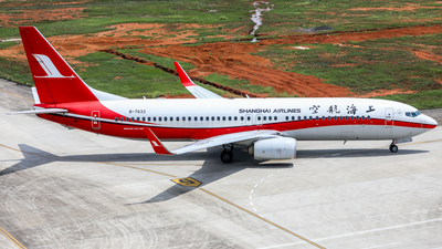A picture of B7633 - Boeing 73789P - Shanghai Airlines - © Dandelionlv125