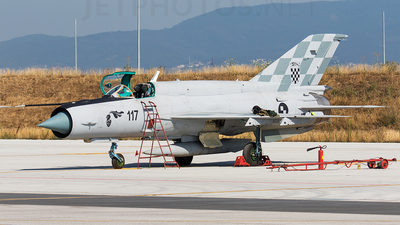 117 - Mikoyan-Gurevich MiG-21bis Fishbed L - Croatia - Air Force