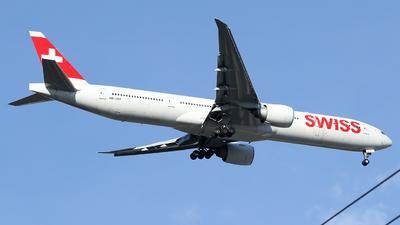 A picture of HBJNJ - Boeing 7773DE(ER) - Swiss - © Crazy XuePangpang