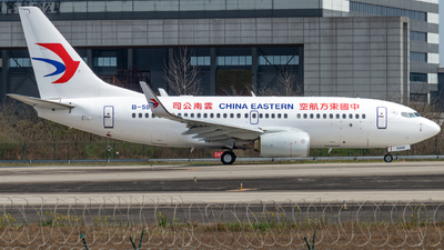A picture of B5808 - Boeing 73779P - China Eastern Airlines - © SunnyZUUU
