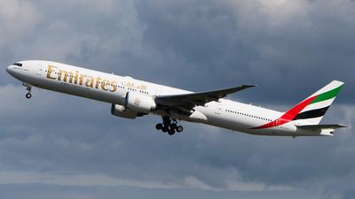 A picture of A6EGV - Boeing 77731H(ER) - Emirates - © Wilko Doodhagen