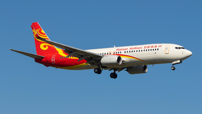 A picture of B1102 - Boeing 73784P - Hainan Airlines - © Aircraft carrier FX
