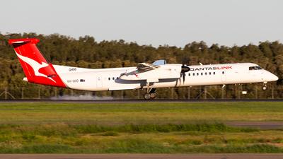 A picture of VHQOD - De Havilland Canada Dash 8400 - Qantas - © Brandon Giacomin